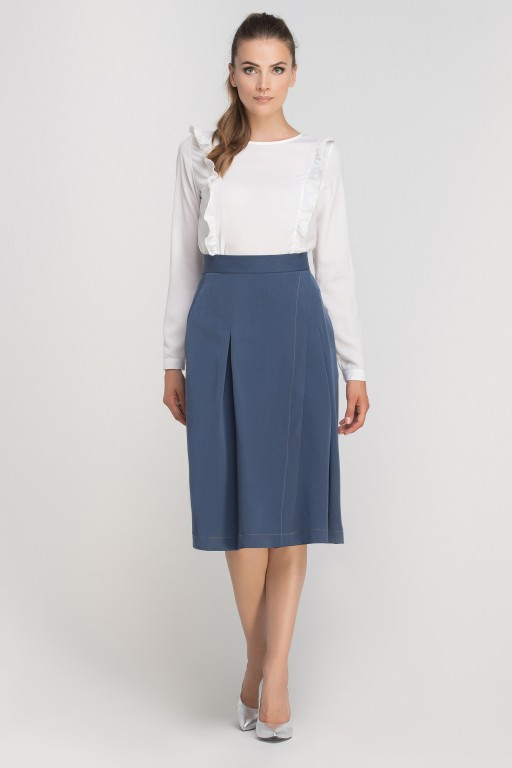 Skirt with envelope cut, SP116 blue