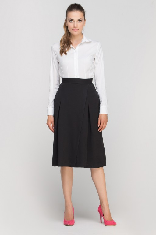 Skirt with envelope cut, SP116 black