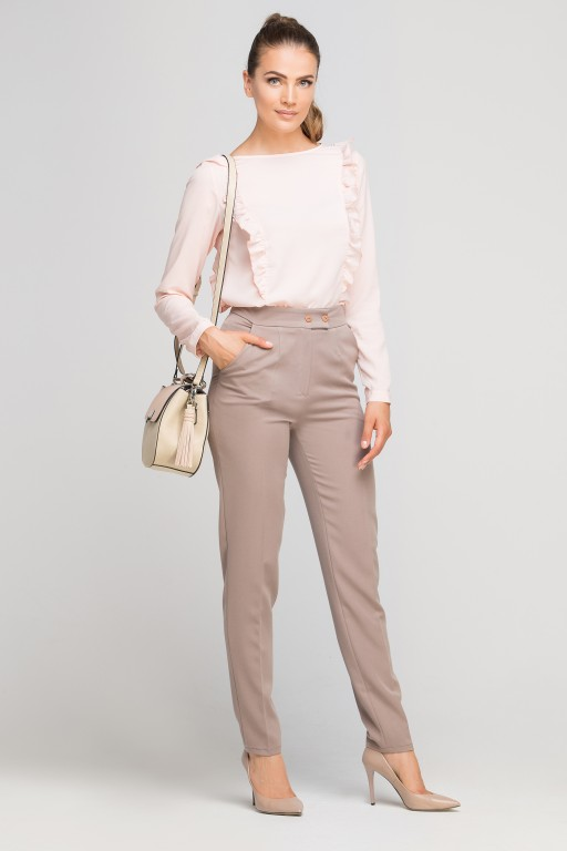 Pants without cuffs, SD114 beige