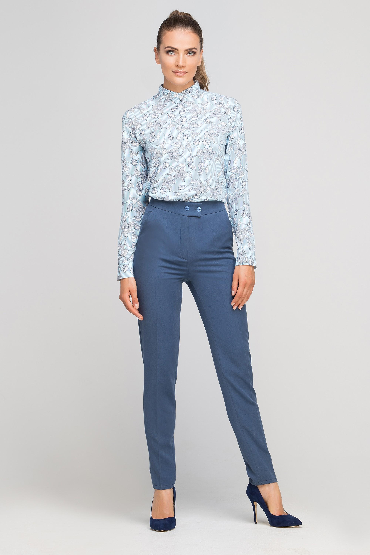 Spodnie bez mankietów, SD114 niebieski Lanti