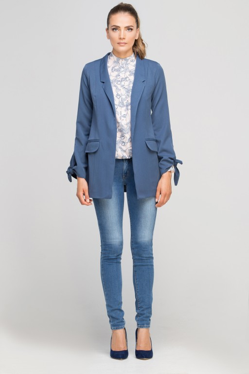Classic jakcet with a fashion twist, ZA116 blue