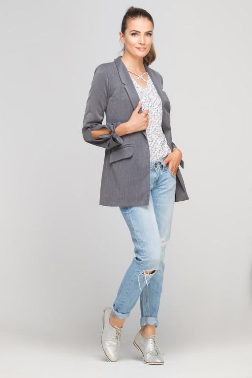 Classic jakcet with a fashion twist, ZA116 graphite