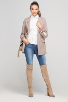 Classic jakcet with a fashion twist, ZA116 beige