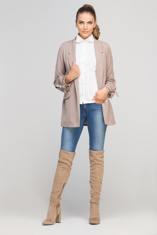 Classic jakcet with a fashion twist, ZA116 beige