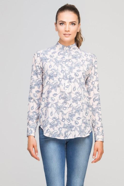 Koszula ze stójką, K107 róż