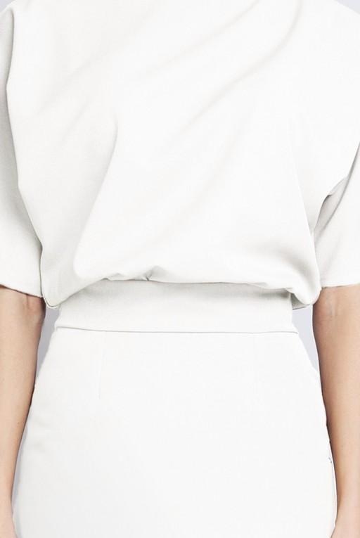 Sukienka dopasowana dołem, SUK123 ecru