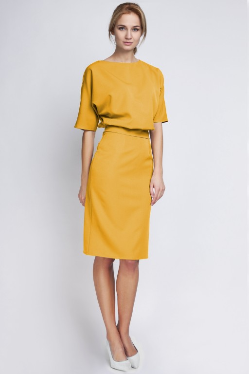 Dress tapered bottom, SUK123 mustard