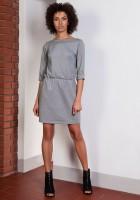 Klasyczna sukienka, SUK129 szary