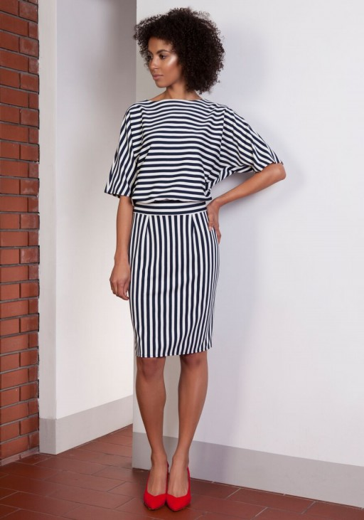 Dress tapered bottom, SUK123 stripes