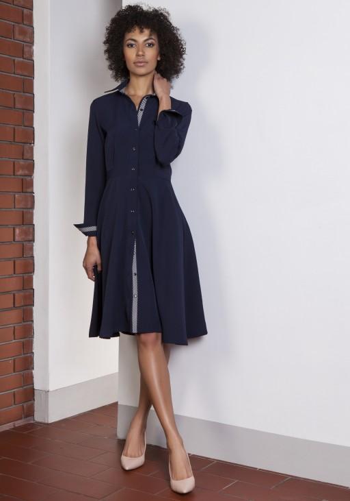 Flared dress, SUK151 navy