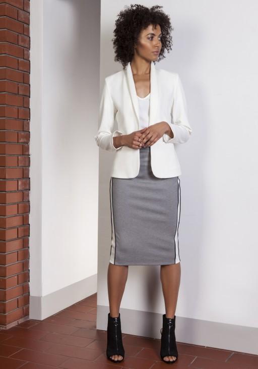 The stylish jacket, ZA113 ecru