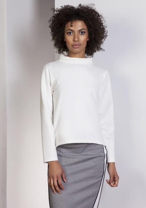 Sweatshirt with longer back, BLU139 ecru