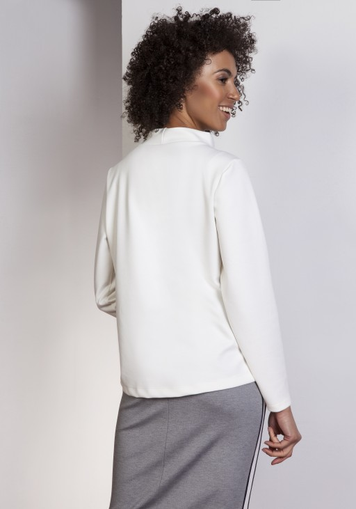 Sweatshirt with longer back, BLU139 ecru
