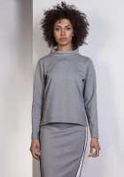 Sweatshirt with longer back, BLU139 gray