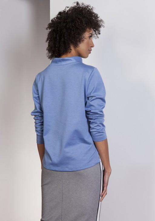 Bluza z dłuższym tyłem, BLU139 niebieski