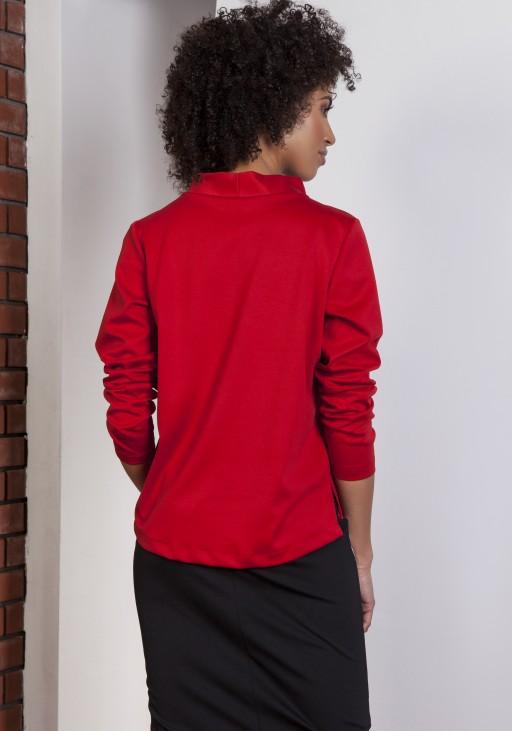 Sweatshirt with longer back, BLU139 red