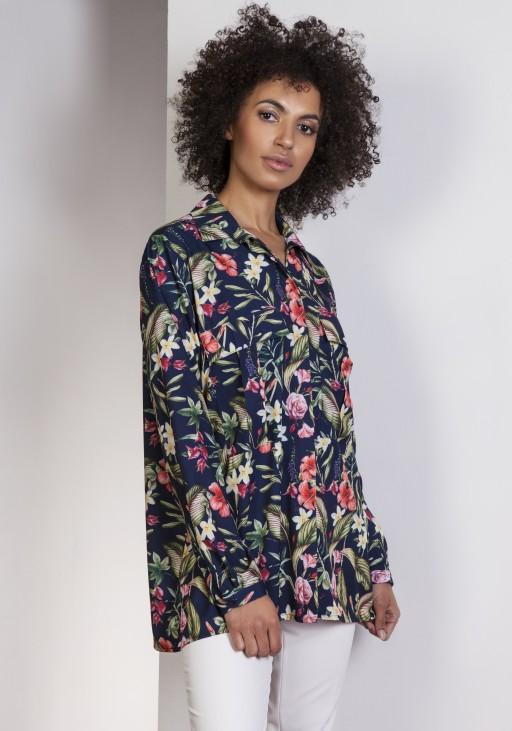 Oversize shirt, K108 flowers