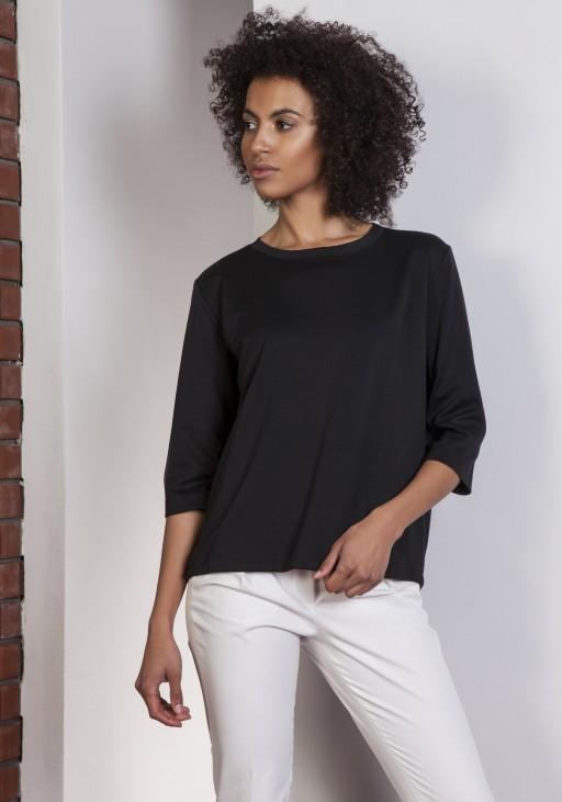 Loose blouse - tailcoat, BLU140 black