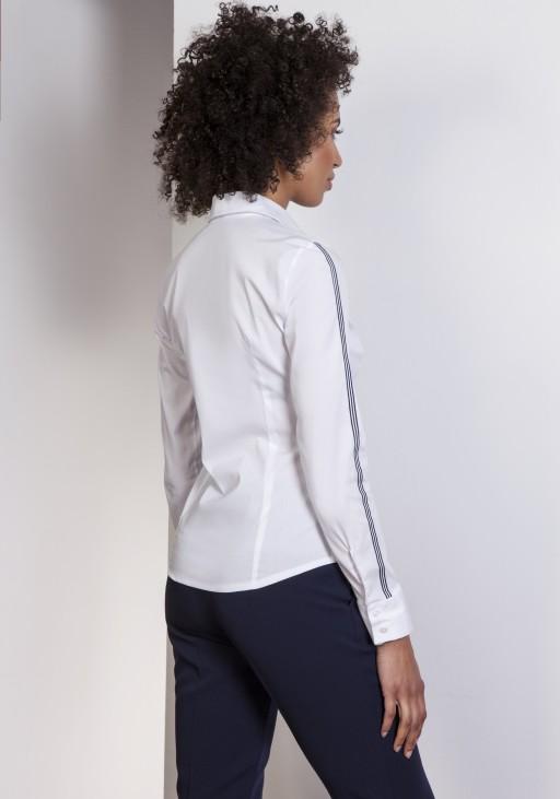 Shirt with stripes, K109 ecru