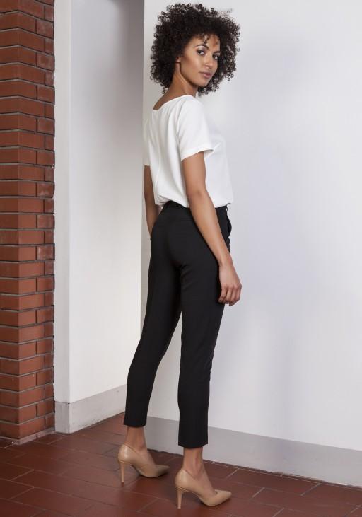 Spodnie cygaretki, SD115 czarny