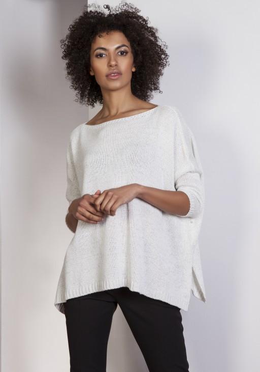 Sweater oversize, SWE114 ecru