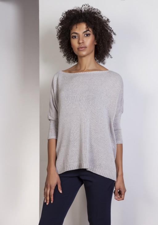Sweter oversize, SWE114 szary