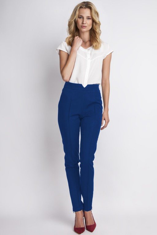 Trousers with high-waisted, SD112 indigo