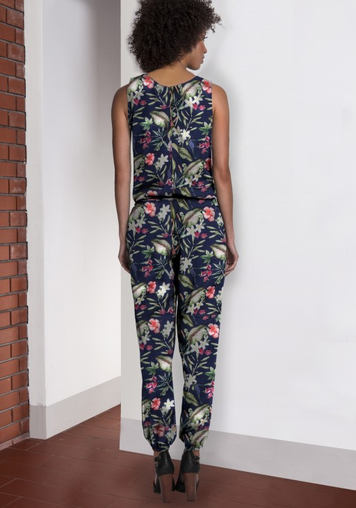 Airy jumpsuit, KB101 flowers
