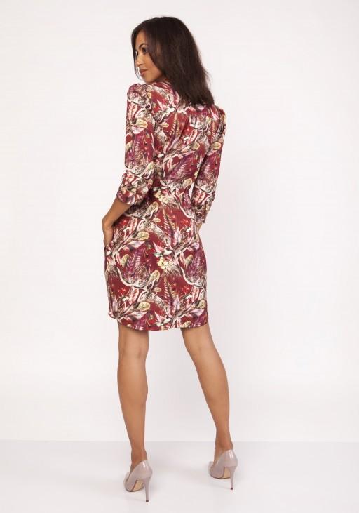 Sukienka z delikatną stójką, SUK153 wzór