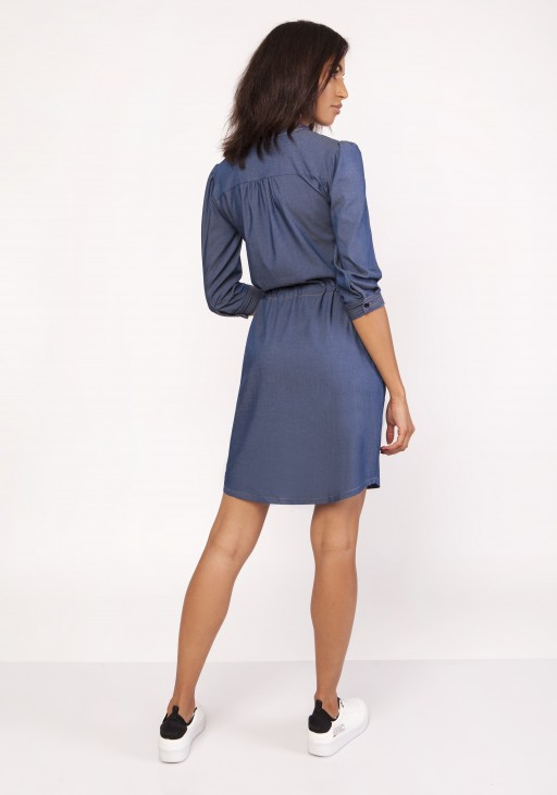 Sukienka z delikatną stójką, SUK154 jeans