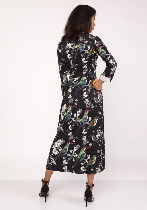Sukienka maxi, SUK159 ptaki