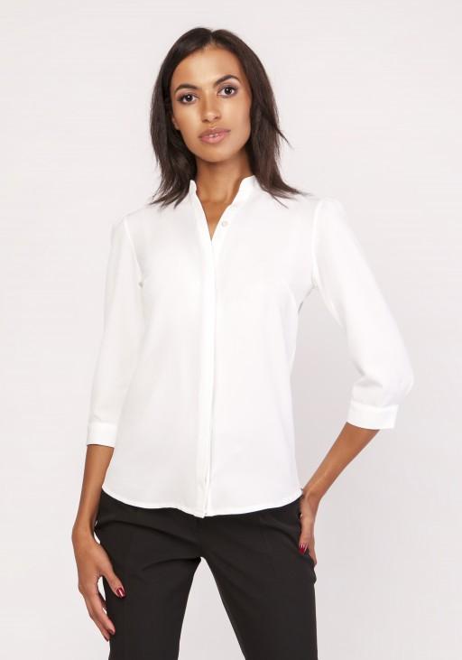 Koszula o luźnym kroju, K110 ecru