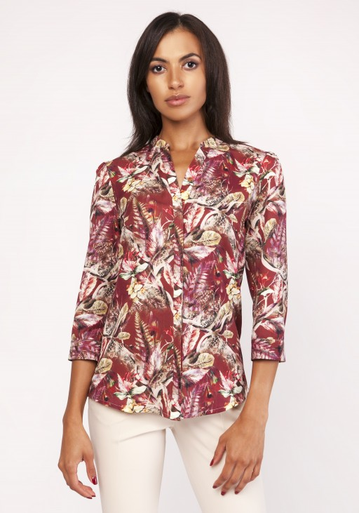 Shirt with a loose cut, K111 pattern