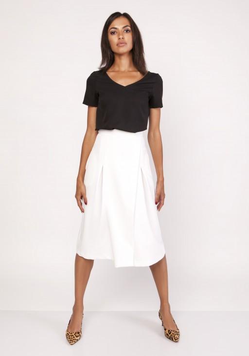 Flared skirt, SP118 ecru