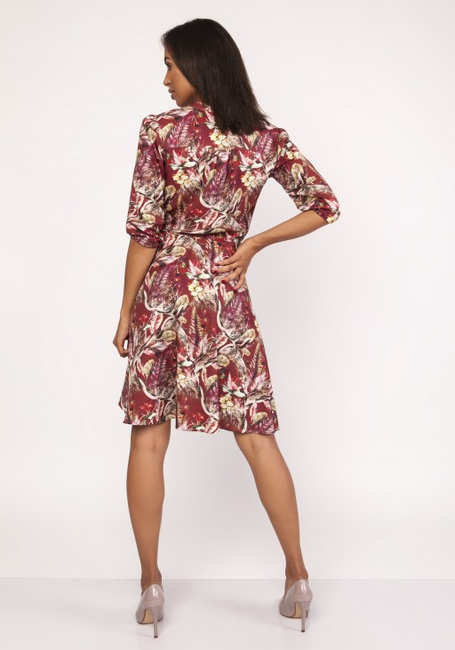 Dress with a flared bottom, SUK155 pattern