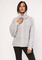 A warm, oversized, sweater, SWE115 gray