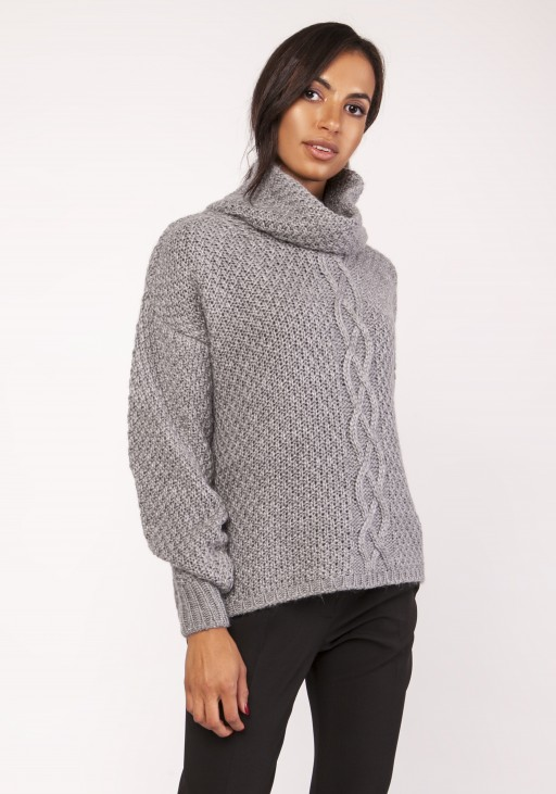 A warm, oversized, sweater, SWE115 grey