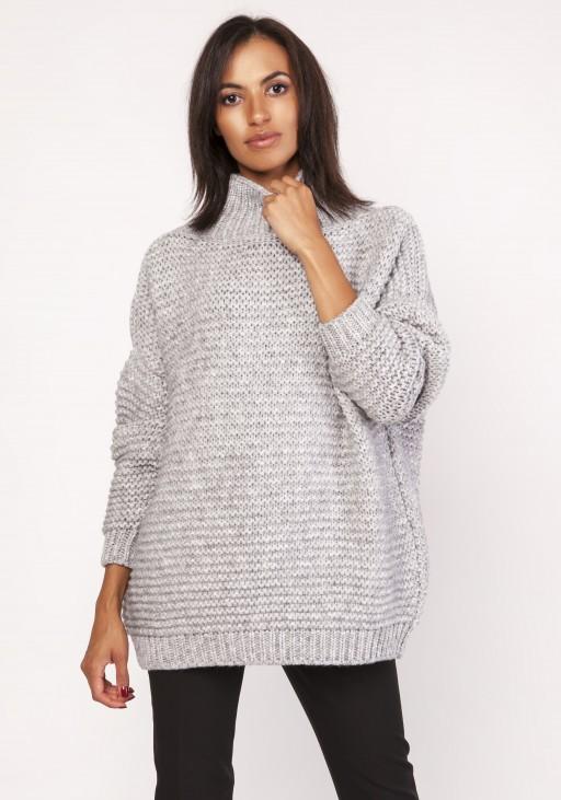 Fashionable turtleneck sweater, SWE116 gray