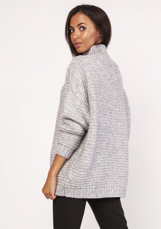 Fashionable turtleneck sweater, SWE116 gray