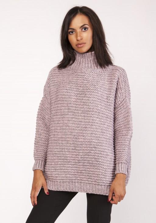 Fashionable turtleneck sweater, SWE116 pink