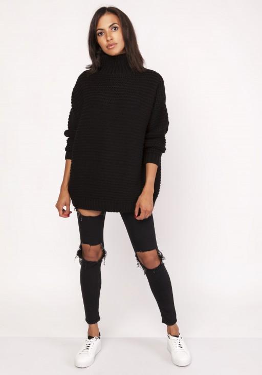 Fashionable turtleneck sweater, SWE116 black