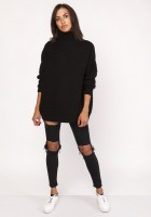 Fashionable turtleneck sweater, SWE116 black