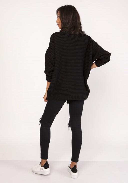 Sweterek - golf, SWE116 czarny