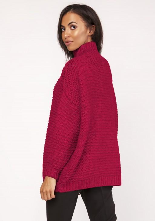 Sweterek - golf, SWE116 malinowy