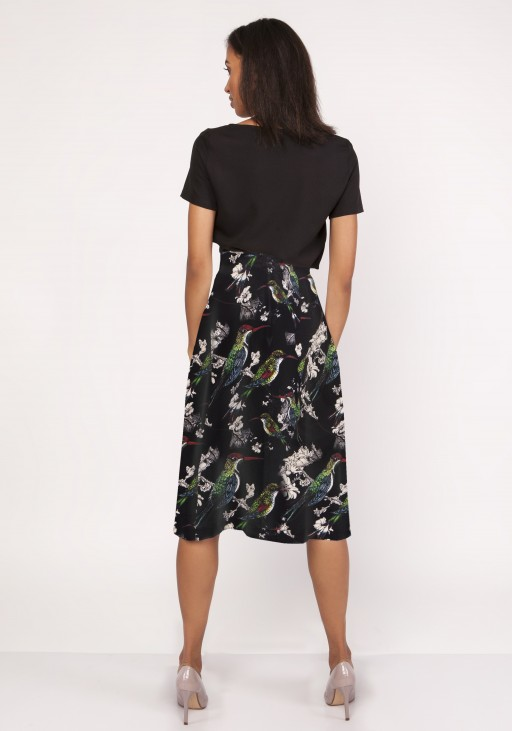 Flared skirt, SP119 birds