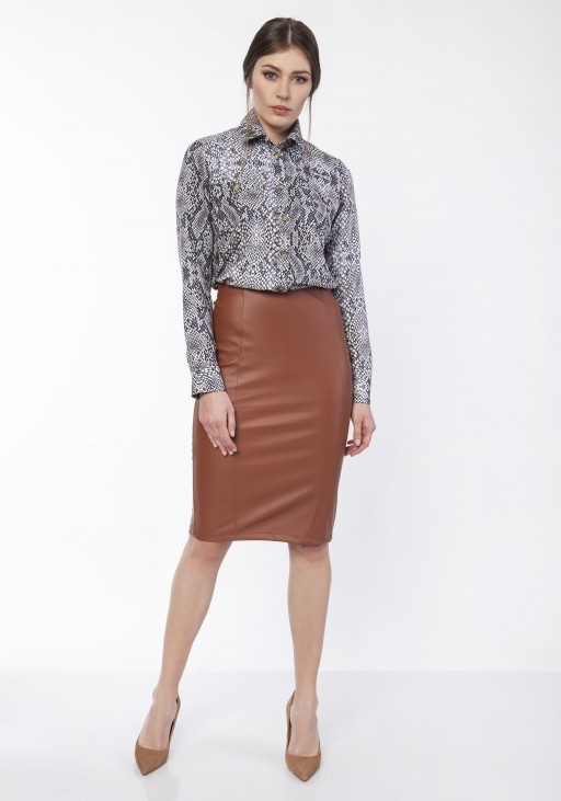 Pencil skirt,  SP101 eco leather