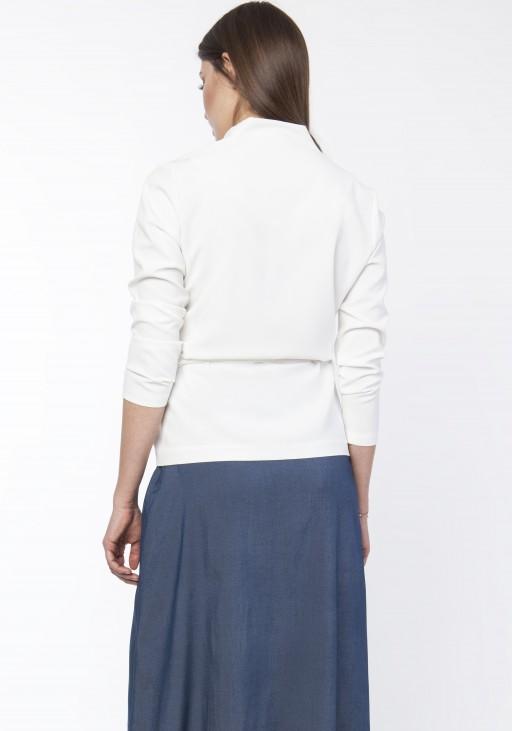 Jacket with belt, ZA110 róż