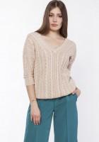Sweater with braids, SWE117 beige