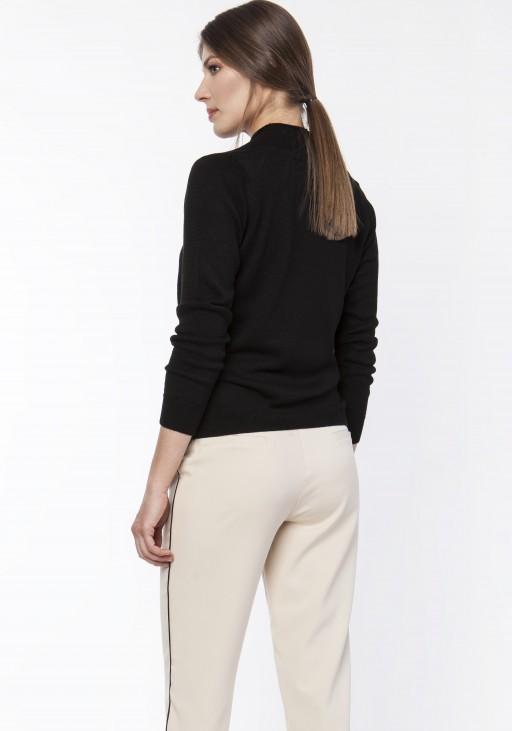 Sweter o kopertowym dekoldzie, SWE119 black
