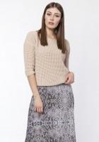 Sweter z uwodzicielskim dekoltem, SWE118 beż